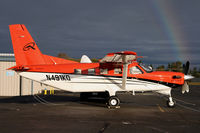 N491KQ @ KPAE - A sun break with a great rainbow at the last minute today