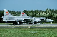 37422 @ EHTW - During the Exercise Frisian Flag a couple of Viggens were operating out of Twenthe AB. The Viggen was wfu a year later. - by Joop de Groot
