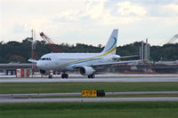9H-AFK @ ORL - Comlux Aviation A319 leaving NBAA Orlando