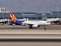 N826AW @ KLAS - US Airways / Airbus Industrie A319-132