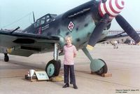 N109W - CAF Buchon HA-1112 at Great Southwest Airport Airshow, Ft. Worth, TX - taken by my father - that's me!