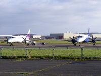 G-MAJA @ EGNR - Eastern Airways, with G-MAJM on its left - by chris hall