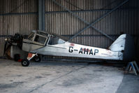 G-AHAP @ EGHC - awaiting rebuild to flying condition - by Chris England