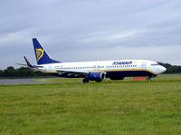 EI-DAG @ EGPH - Ryanair B737 Taxiing into Edinburgh airport - by Mike stanners