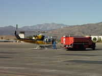 N120LA @ POC - Fueling bird to go and assist with fires - by Helicopterfriend
