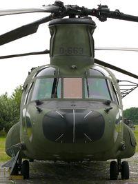D-663 @ EHLW - Boeing CH-47D Chinook D-663 - by Alex Smit