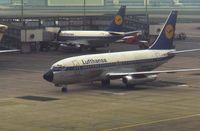 D-ABFE @ EGLL - Lufthansa Boeing 737-230C - by Peter Ashton