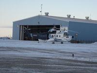 C-FTIG @ YUB - Cougar Helicopter's Sikorski S-61N - by John Reid