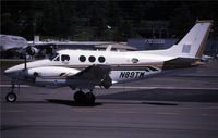 N89TM @ KBFI - This is another taxying King Air