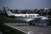 PT-LVI @ SBBH - A King Air on a ramp in brazil