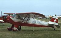 HB-OAG @ EGBG - Piper J-3C-100 Cub