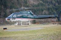 C-FSAI - C-FSAI lifting off from Heliport at Tahsis, BC Canada - by Jim Pook