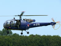 A-275 @ EHLW - Aerospatiale SE316B Alouette III A-275 Royal Netherlands Air Force Royal Flight - by Alex Smit