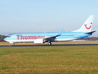 G-FDZA @ EGCC - Thomson - by chris hall