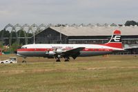 G-APSA @ EGLF - Taken at Farnborough Airshow on the Wednesday trade day, 16th July 2009 - by Steve Staunton