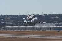 OV-105 @ NFW - Shuttle Endeavor and the Shuttle Carrier Aircraft departing NASJRB Ft.Worth (Carswell AFB)