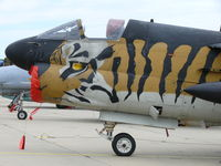 158825 @ EBFS - LTV A-7E Corsair II 158825 Hellenic Air Force painted in great looking tiger colors - by Alex Smit