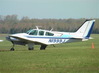 N1999J @ KTHA - Beechcraft 95-C55 Baron at Beechcraft Heritage Museum, Tullahoma Regional Airport