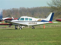 N6591A @ KTHA - Beechcraft C23 Sundowner 180 at Beechcraft Heritage Museum, Tullahoma Regional Airport