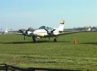 N55RV @ KTHA - Beech 95-B55 Baron at Beechcraft Heritage Museum, Tullahoma Regional Airport - by Ingo Warnecke