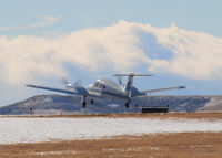 N8341X @ KAPA - Landing on 17L on a very windy day. - by Bluedharma