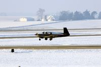 N1010G @ CID - Making a long landing - by Glenn E. Chatfield