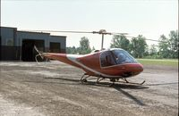 N286Q - Enstrom F-28A at a small airfield in Indianapolis