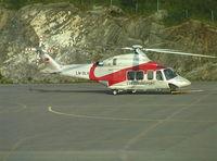 LN-OLV @ ENBO - Agusta AB.139 of LUFTTRANSPORT at Bodö airport