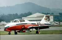 114122 @ RDG - CT-114 Tutor number 9 of the Snowbirds aerobatic team in 1976 as displayed at the Reading Airshow in Pennsylvania. This aircraft was later written off on October 30, 1979. - by Peter Nicholson