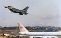 79-0358 @ NFW - F-16 Departing Carswell AFB - by Zane Adams