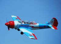 N4117M @ RVS - Yak-52 N4117M takes part in the 50th Aniversary celebration of Tulsa's Riverside Airport - by Malcolm Taylor