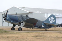 N92879 @ FTW - CAF Helldiver at Mecham Field - Fresh prop!