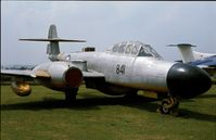 WM292 - Gloster Meteor TT.20 of Royal Navy at the Fleet Air Arm Museum, Yeovilton