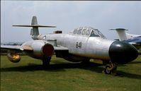WM292 - Gloster Meteor TT.20 of Royal Navy at the Fleet Air Arm Museum, Yeovilton