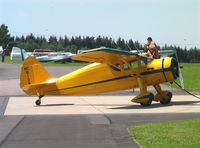N81390 @ EDKV - Fairchild 24W-46 just arrived in Germany at Dahlemer-Binz airfield