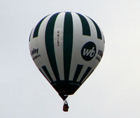 G-WILB - First photo of 2009 as this Balloon passed over my house in Derbyshire UK