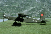 V-615 @ LSMJ - Visiting aircraft to Turtmann were often parked just adjecent to the main road through the Rhone valley. - by Joop de Groot