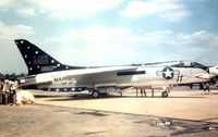 145557 @ IAD - Coded MG-11, this VMF-321 Crusader from Andrews AFB was in the static park of Transpo 72 held at Dulles Airport. - by Peter Nicholson