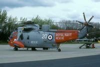 XV647 @ EHLW - A rare sight on the continent are the Royal Navy Sea Kings. This one was present during the 1989 SAR Meet. - by Joop de Groot