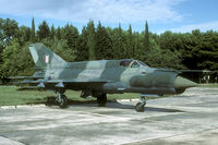 118 @ LDPL - One of the Croatian MiG-21s before their upgrade to MiG-21Bis-D standards. - by Joop de Groot