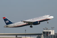 N625AW @ DFW - US Airways departing DFW