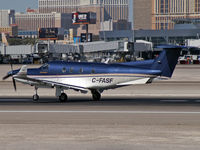 C-FASF @ KLAS - 2001 Pilatus PC-12/45 - by Brad Campbell