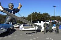N165AF - USAF Academy glider at the 2008 Armed Forces Bowl display.