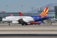 N826AW @ KLAS - US Airways - 'Arizona' / Airbus Industrie A319-132