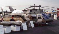 N2500B @ EGLF - Bell 406CS Combat Scout (Company demonstrator) at Farnborough International 1990