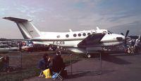 F-GJEB @ EGLF - Beechcraft 200 King Air  at Farnborough International 1990