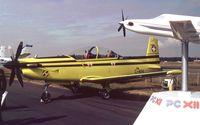 C-404 @ EGLF - Pilatus PC-9 of the Swiss air force at Farnborough International 1990 - by Ingo Warnecke