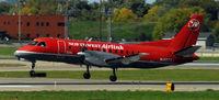 N457XJ @ KMSP - Landing Runway 22 at MSP