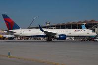 N713TW @ AGP - Delta Airlines Boeing 757-200