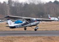 G-CDTX @ EGLK - LANDING ON 25 IN A GUSTING CROSS WIND - by BIKE PILOT